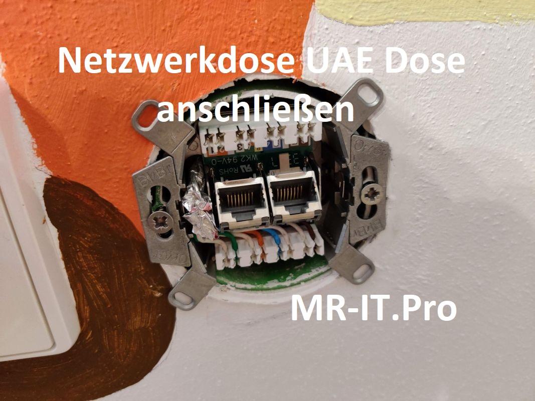 Mr-IT.Pro - Netzwerkdosen UAE anschließen